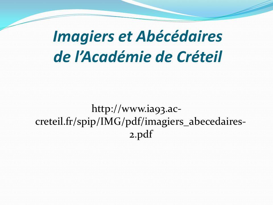 Imagiers et Abécédaires de l'Académie de Créteil