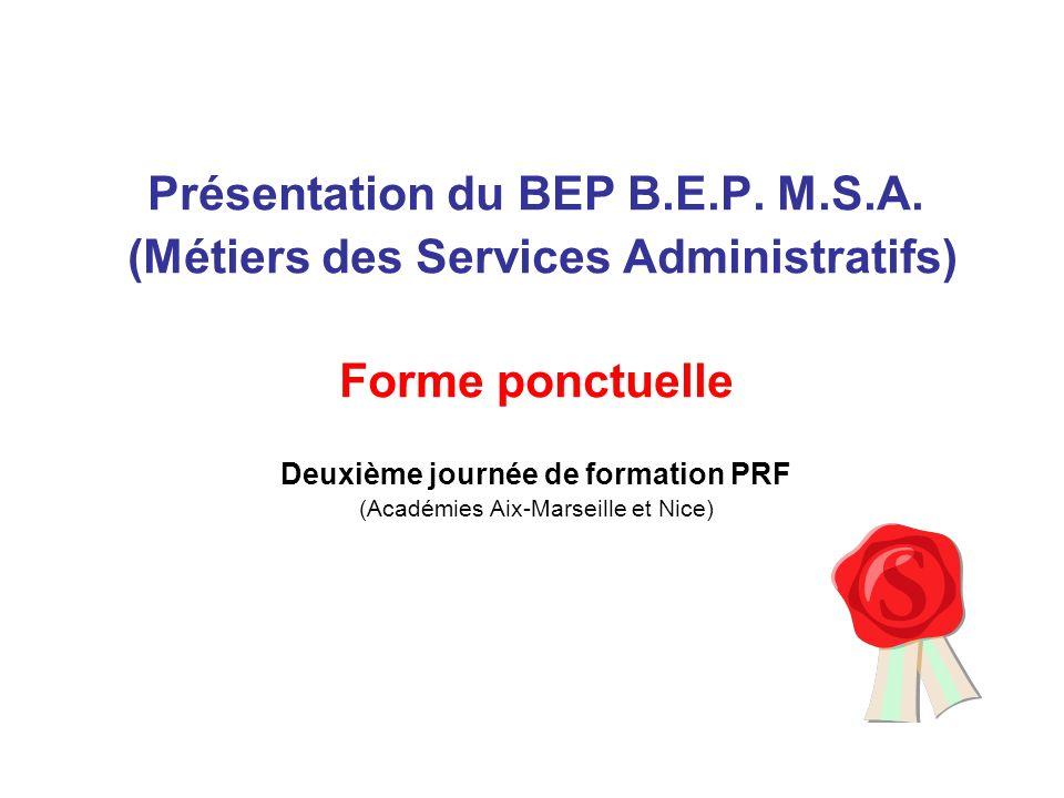 Présentation du BEP B.E.P. M.S.A.