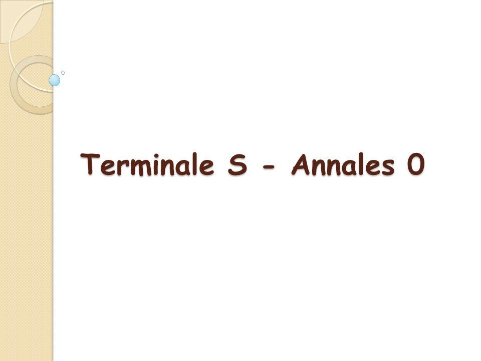 Terminale S - Annales 0