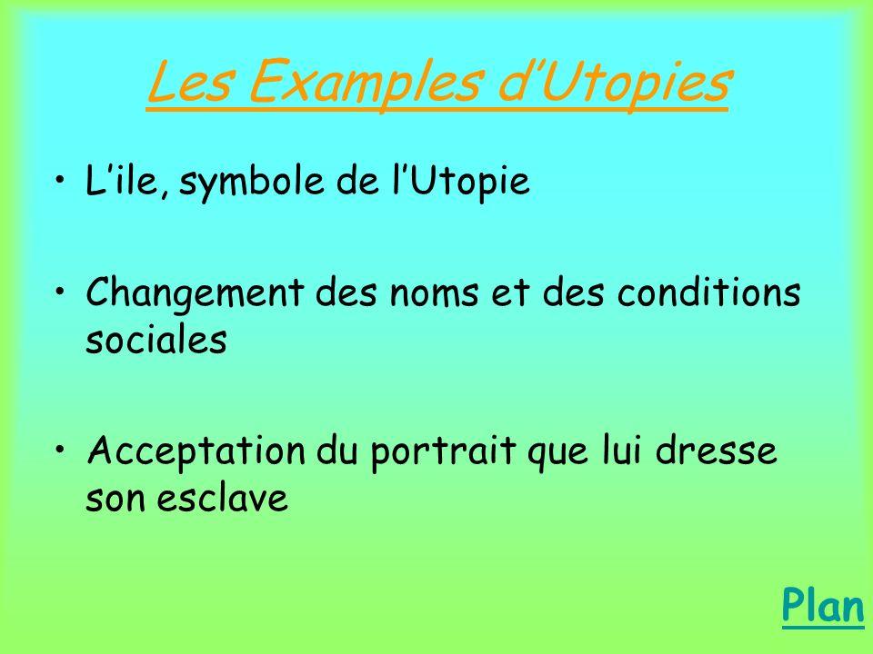 Les Examples d'Utopies