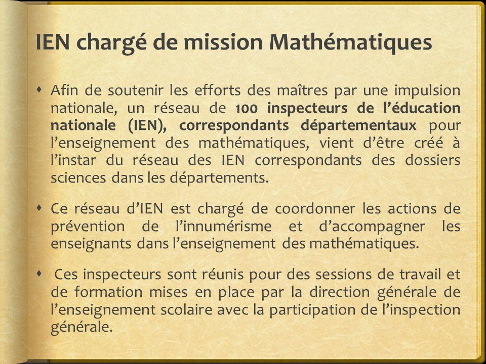IEN chargé de mission Mathématiques