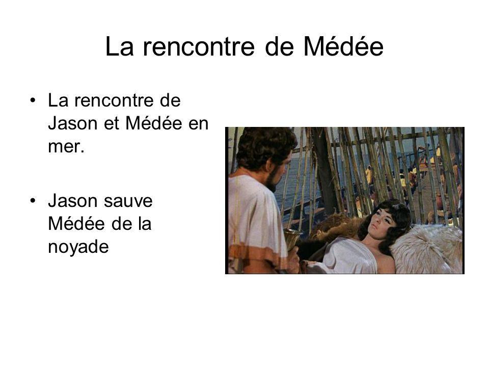 La rencontre de Médée La rencontre de Jason et Médée en mer.