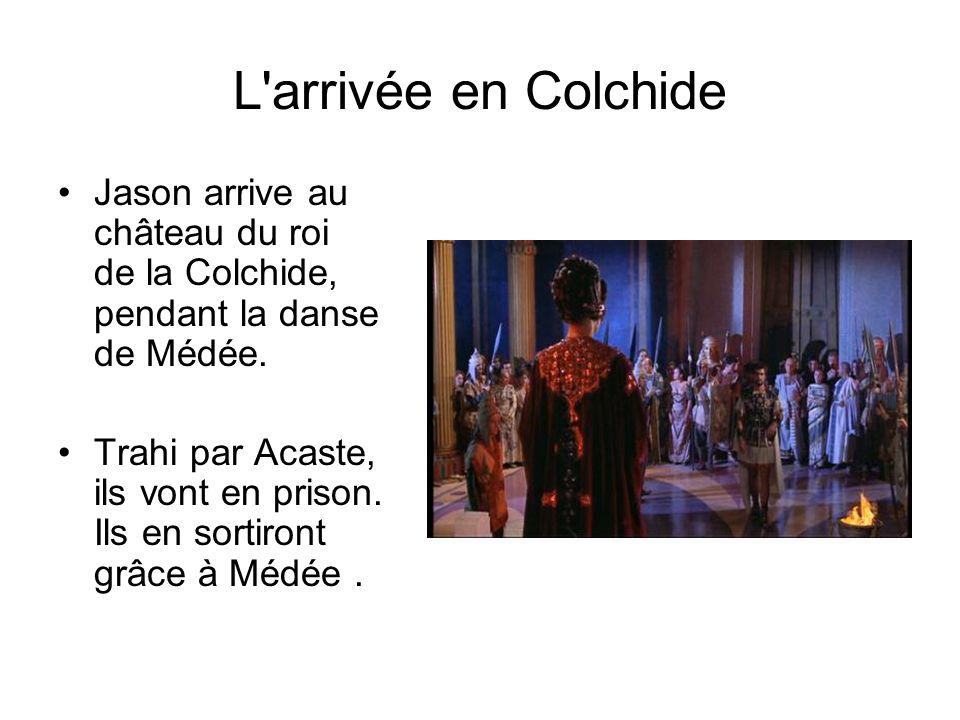 L arrivée en Colchide Jason arrive au château du roi de la Colchide, pendant la danse de Médée.