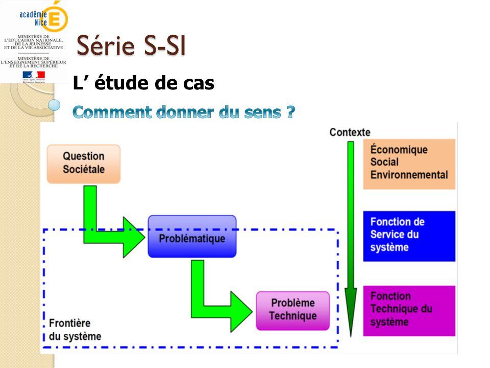 Série S-SI L' étude de cas Comment donner du sens