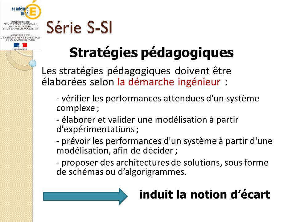 Série S-SI Stratégies pédagogiques