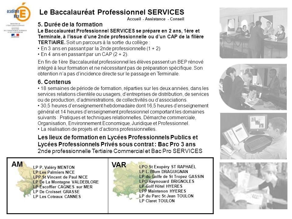 Le Baccalauréat Professionnel SERVICES