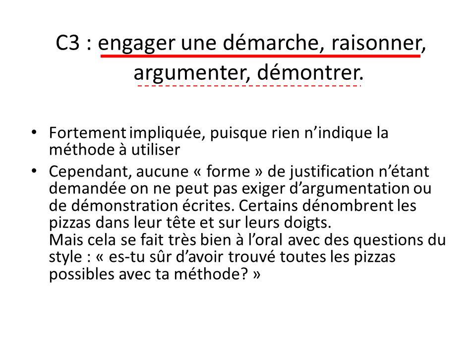 C3 : engager une démarche, raisonner, argumenter, démontrer.