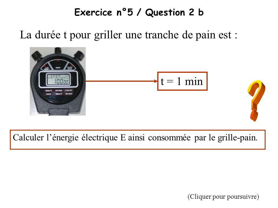 Exercice n°5 / Question 2 b