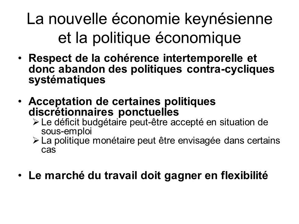 La nouvelle économie keynésienne et la politique économique