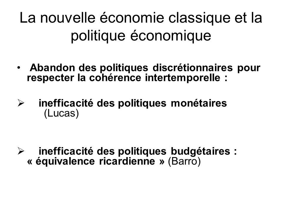 La nouvelle économie classique et la politique économique