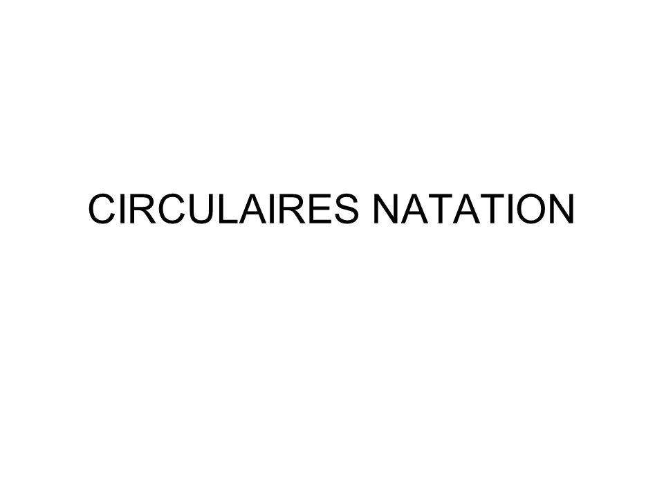 CIRCULAIRES NATATION