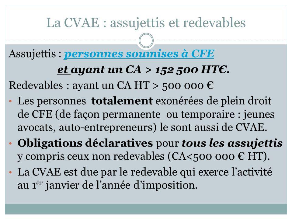 La CVAE : assujettis et redevables