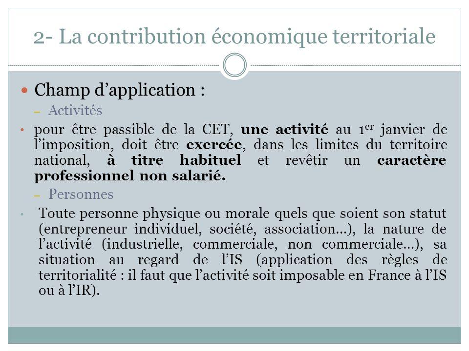 2- La contribution économique territoriale