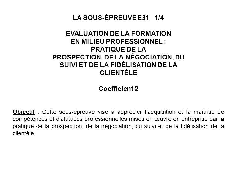 ÉVALUATION DE LA FORMATION EN MILIEU PROFESSIONNEL :