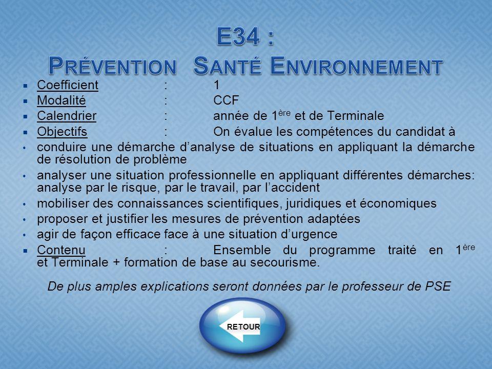 E34 : Prévention Santé Environnement