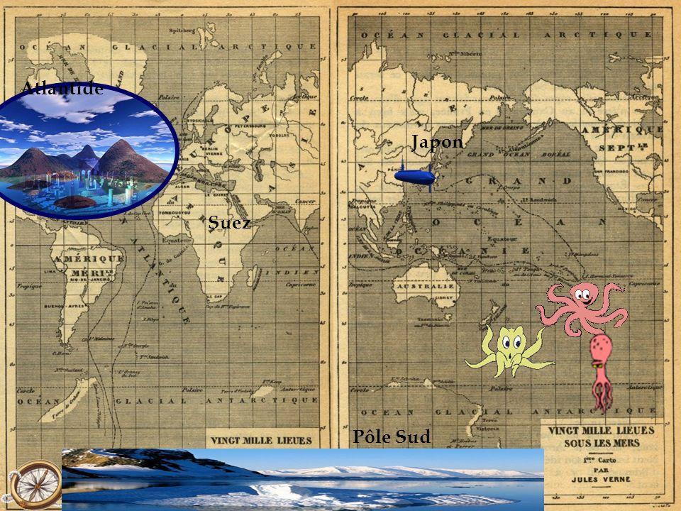Atlantide Japon Suez Pôle Sud