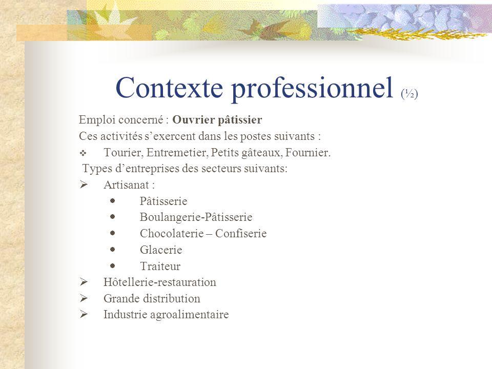 Contexte professionnel (½)