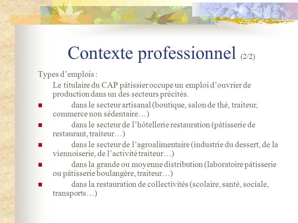 Contexte professionnel (2/2)