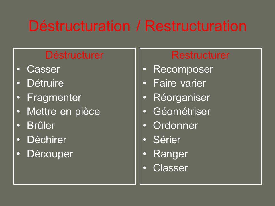 Déstructuration / Restructuration