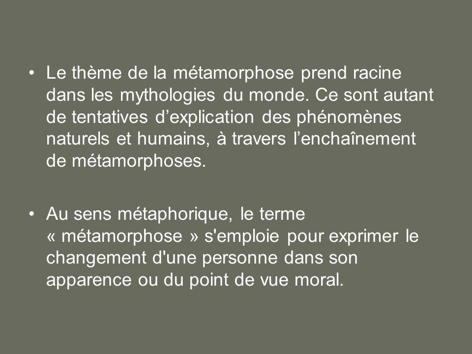 Le thème de la métamorphose prend racine dans les mythologies du monde