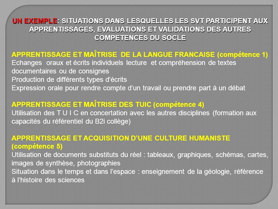 APPRENTISSAGE ET MAÎTRISE DE LA LANGUE FRANCAISE (compétence 1)