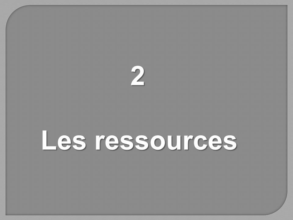 2 Les ressources