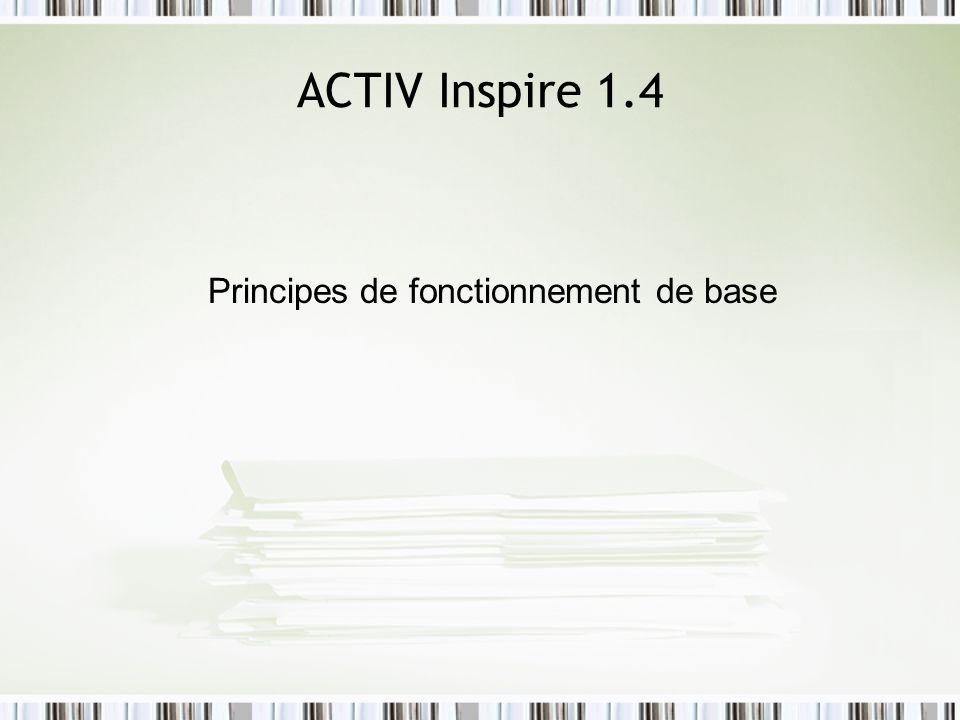 Principes de fonctionnement de base