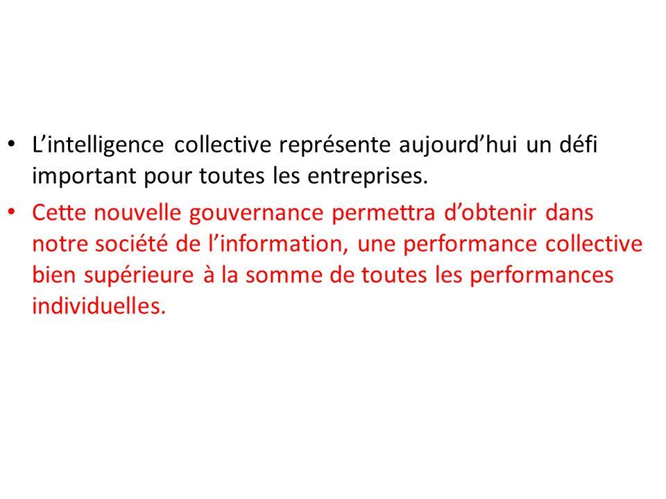L'intelligence collective représente aujourd'hui un défi important pour toutes les entreprises.