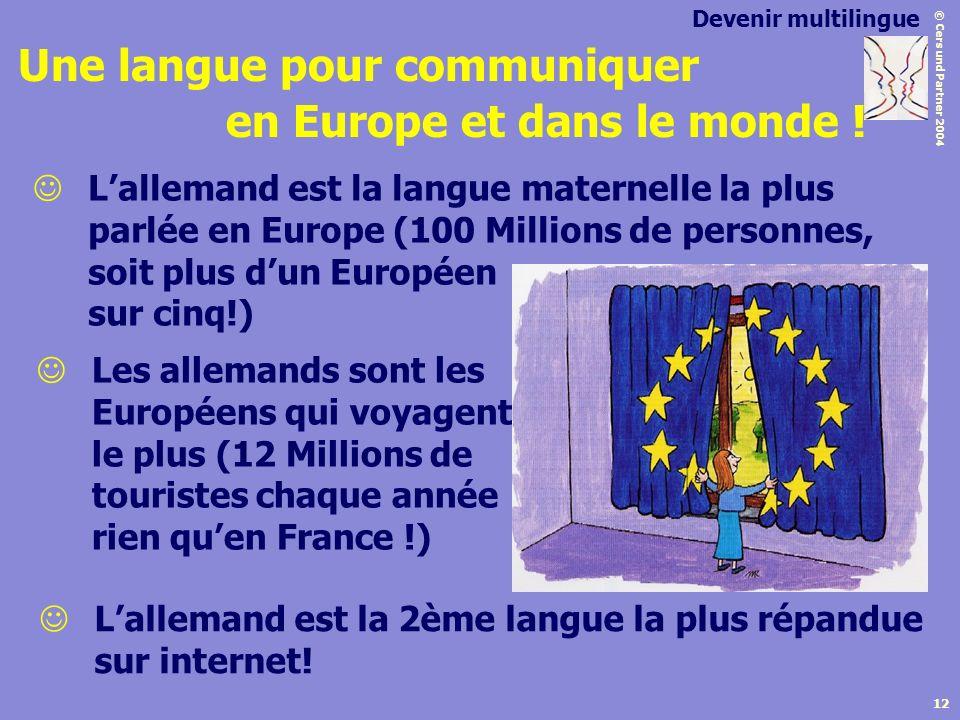 Une langue pour communiquer en Europe et dans le monde !