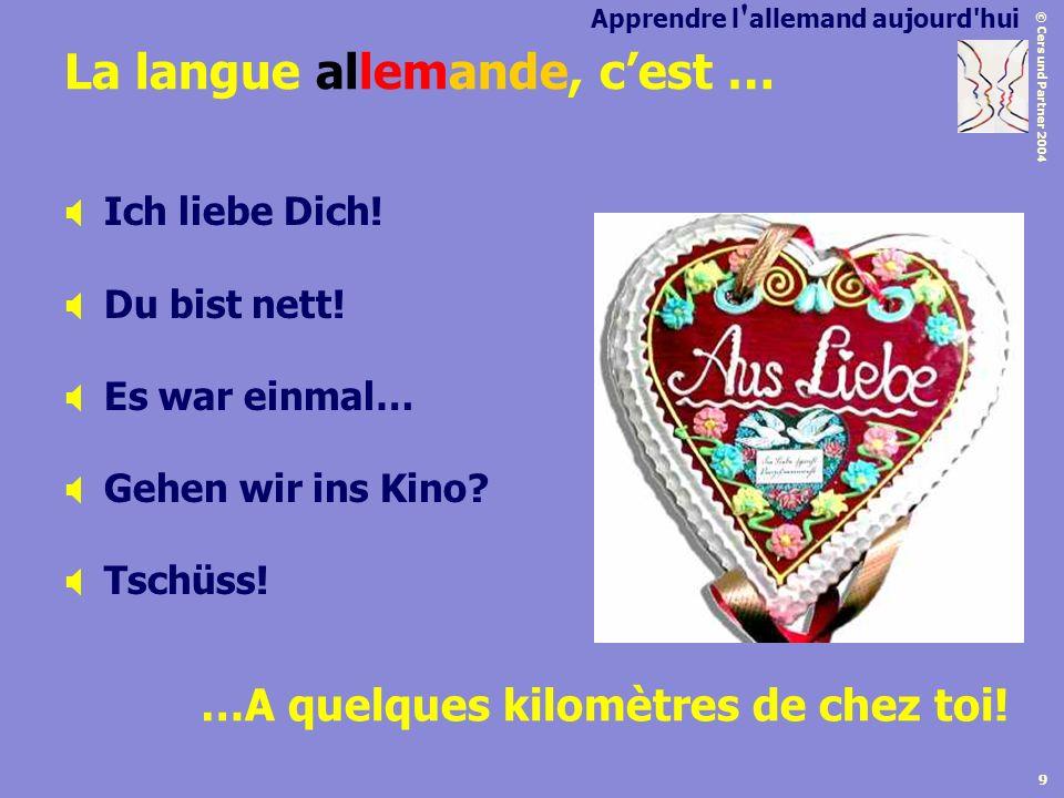 La langue allemande, c'est …
