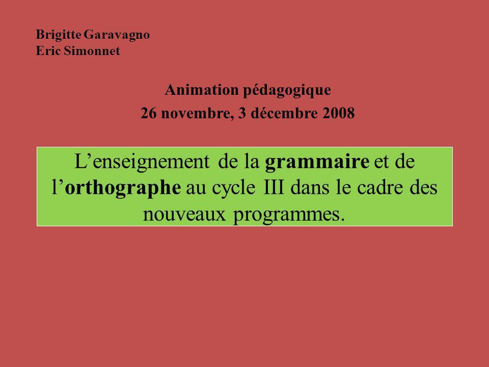 Animation pédagogique 26 novembre, 3 décembre 2008
