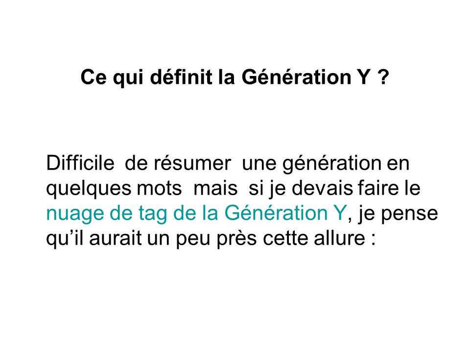 Ce qui définit la Génération Y