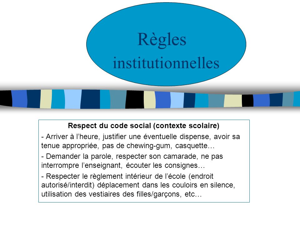 Règles institutionnelles