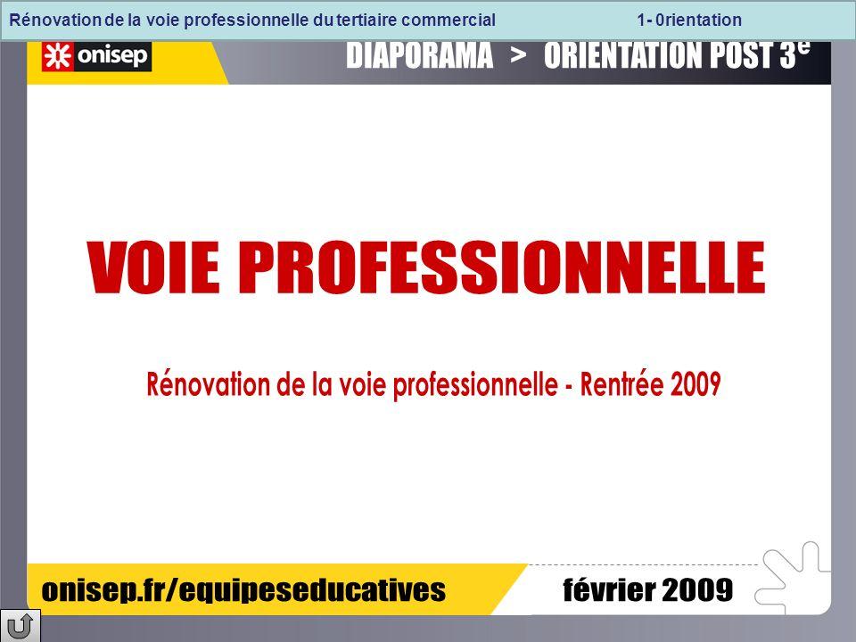 Rénovation de la voie professionnelle - Rentrée 2009