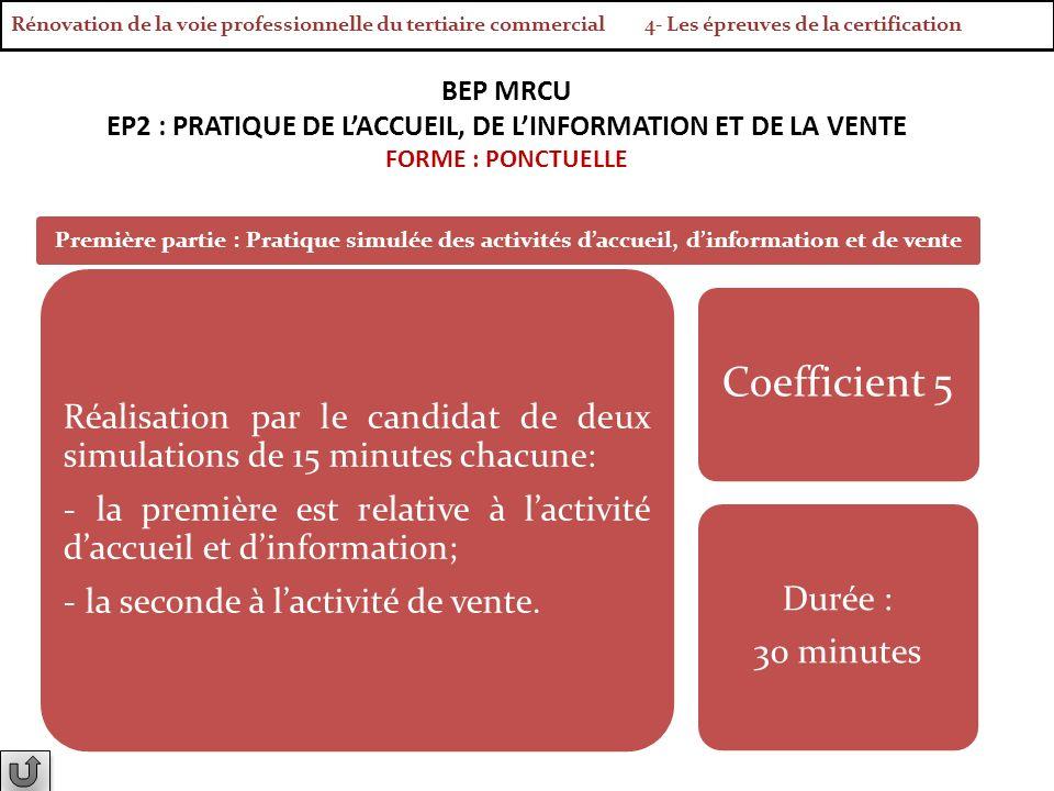 Rénovation de la voie professionnelle du tertiaire commercial 4- Les épreuves de la certification