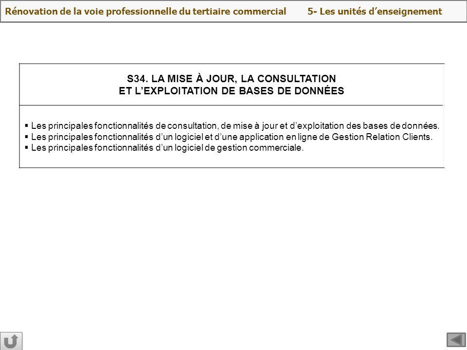 S34. LA MISE À JOUR, LA CONSULTATION