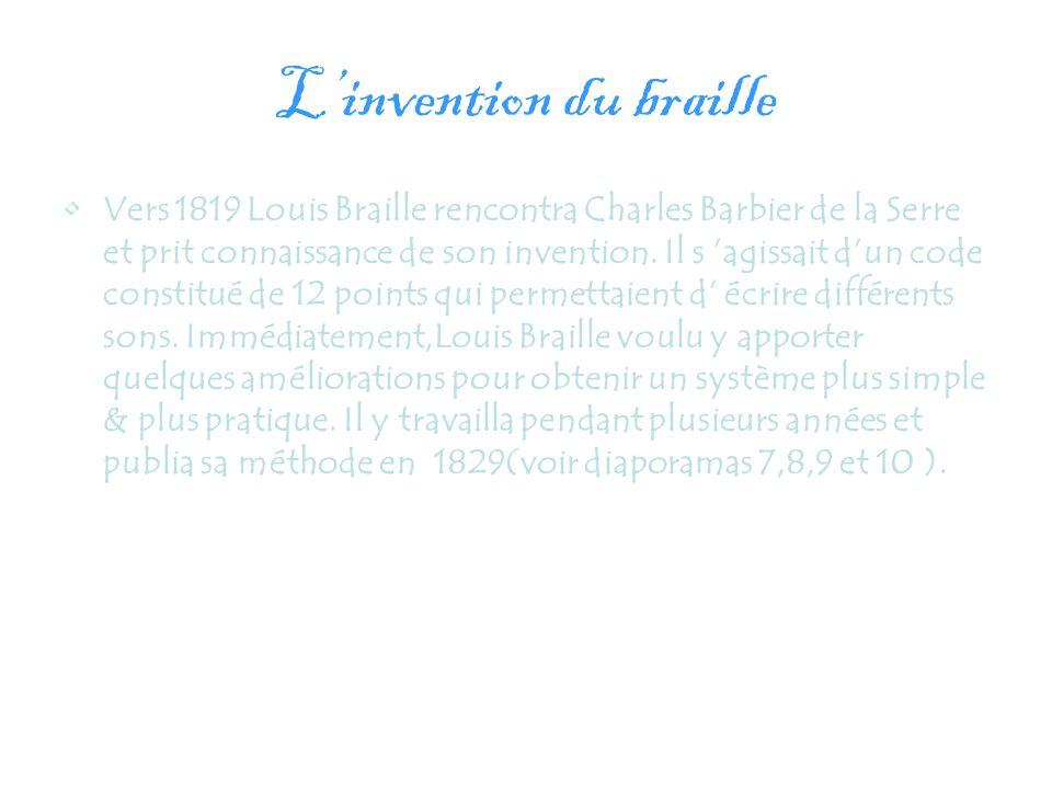 L'invention du braille