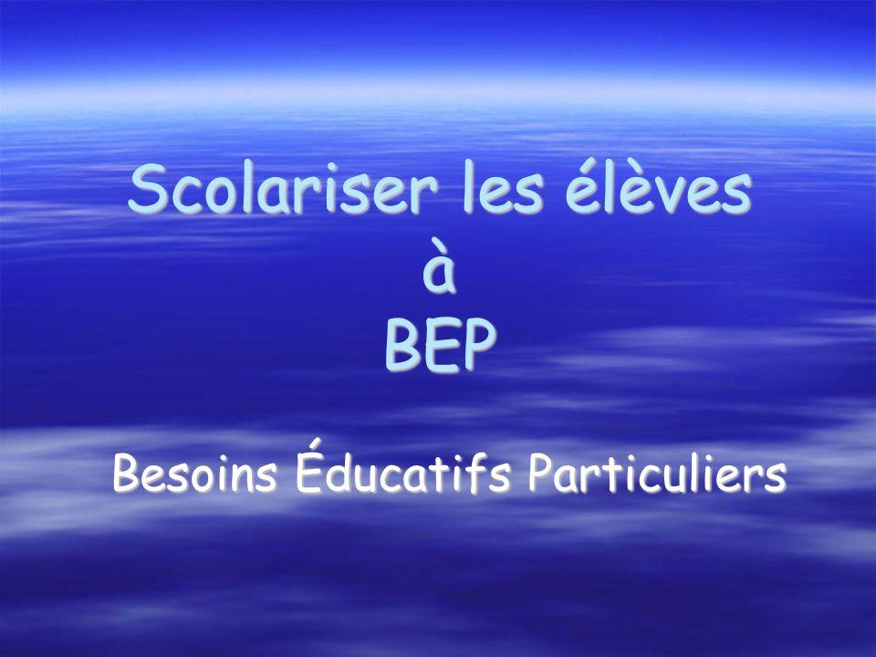 Scolariser les élèves à BEP