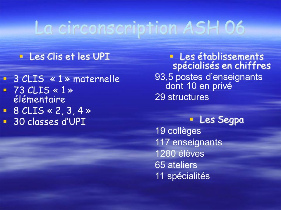 La circonscription ASH 06