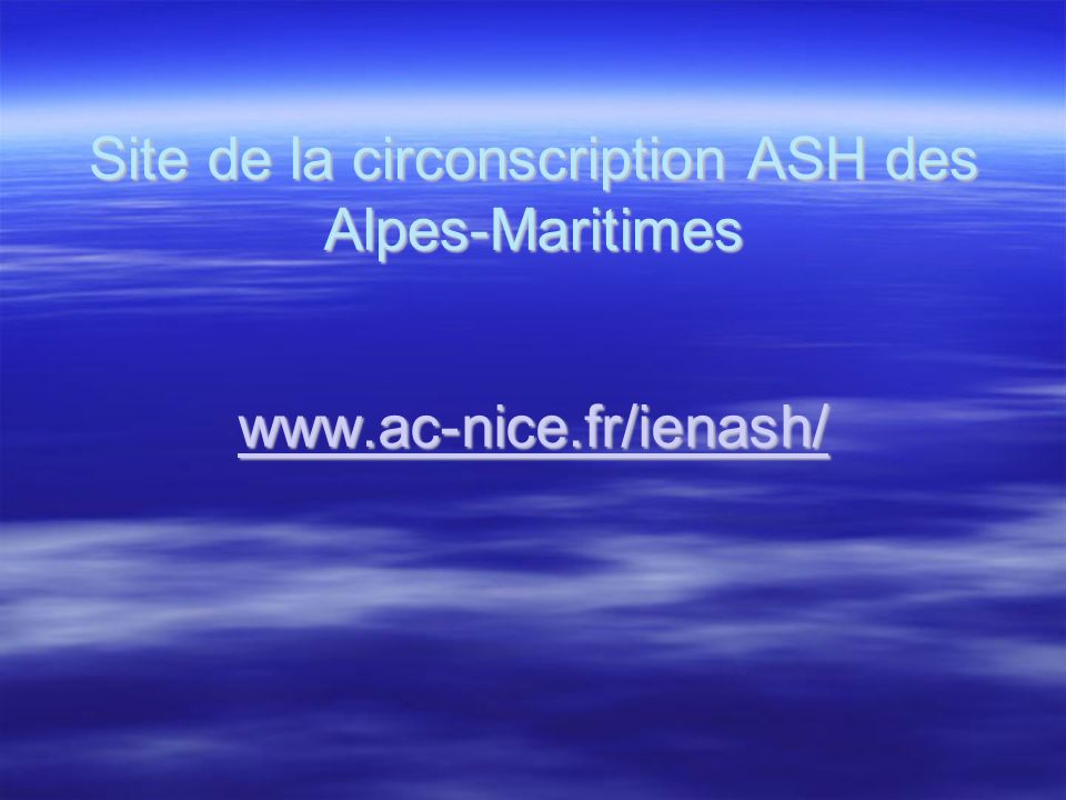 Site de la circonscription ASH des Alpes-Maritimes