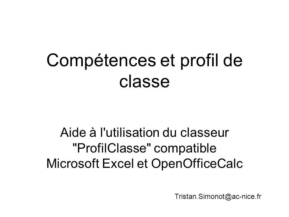 Compétences et profil de classe