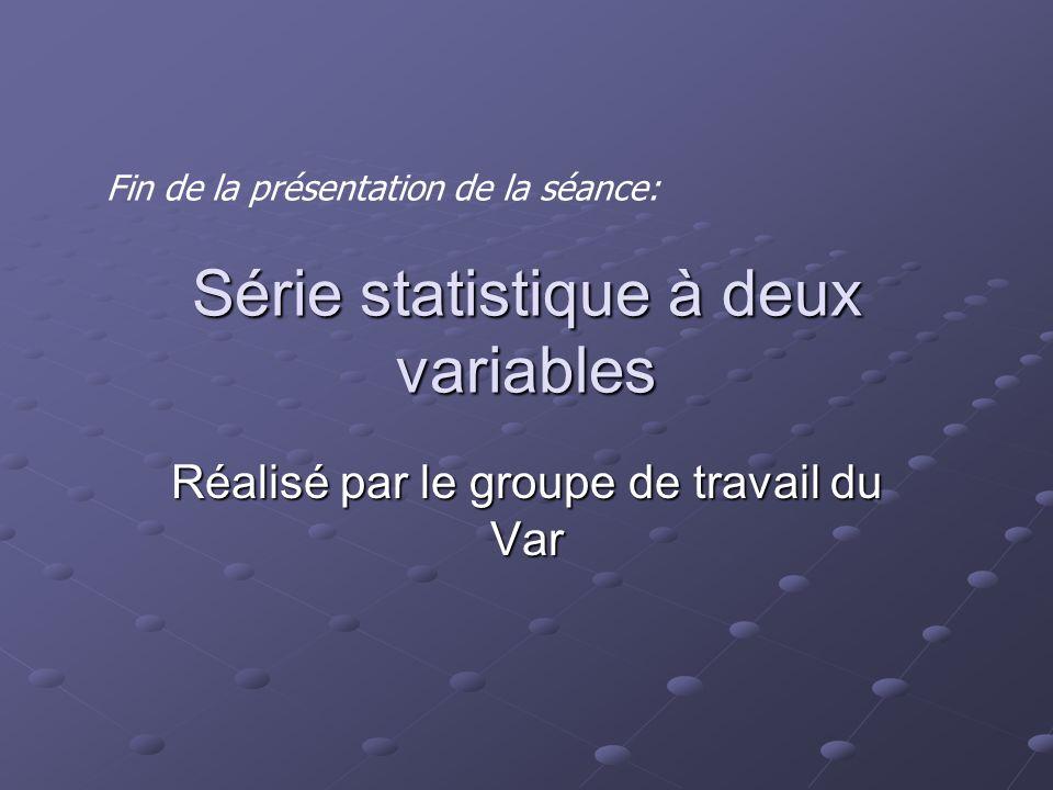 Série statistique à deux variables