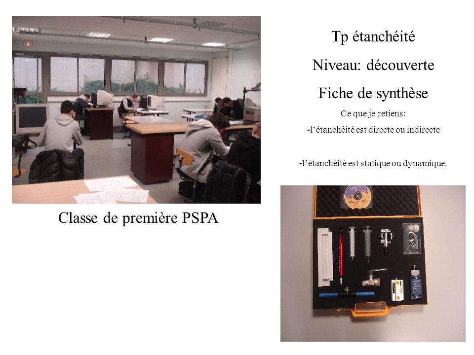 Classe de première PSPA