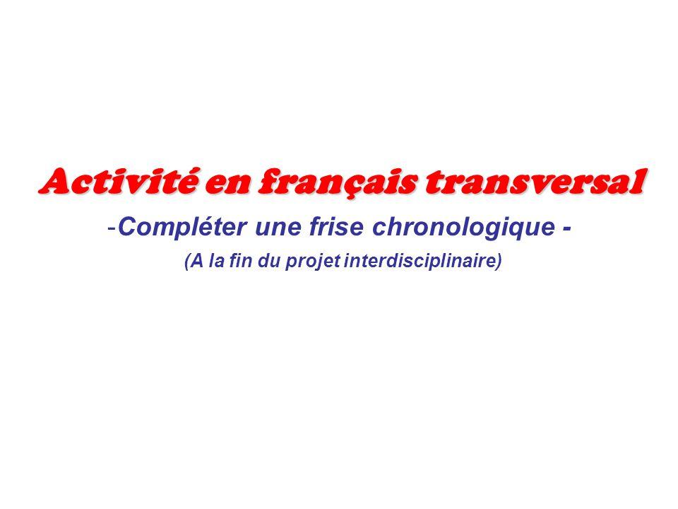 Activité en français transversal