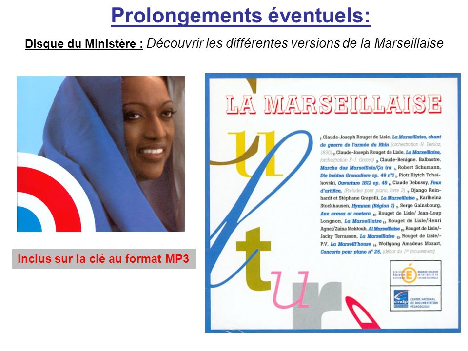 Prolongements éventuels: