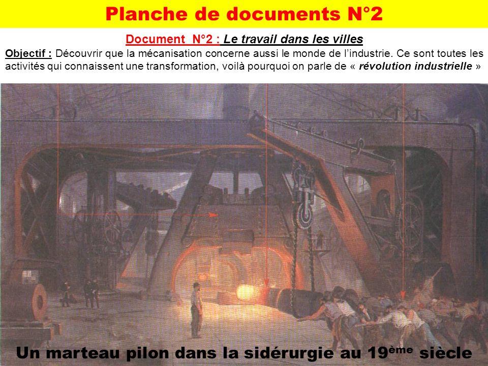 Planche de documents N°2 Document N°2 : Le travail dans les villes