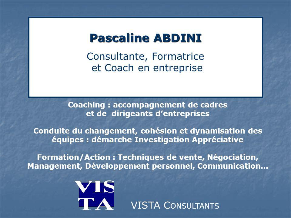 Pascaline ABDINI Consultante, Formatrice et Coach en entreprise
