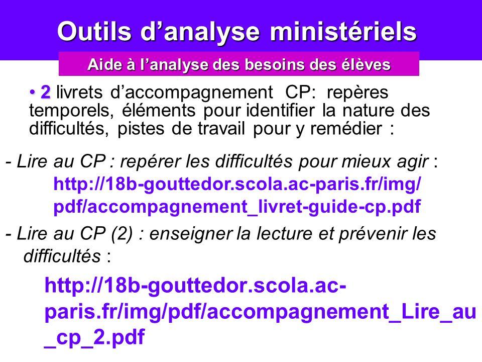 Outils d'analyse ministériels