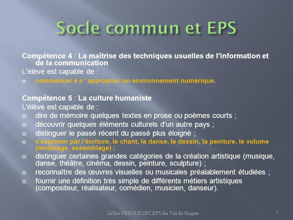 Gilles PEROLE CPC EPS du Val de Siagne