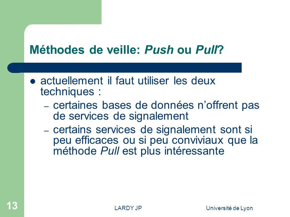 Méthodes de veille: Push ou Pull